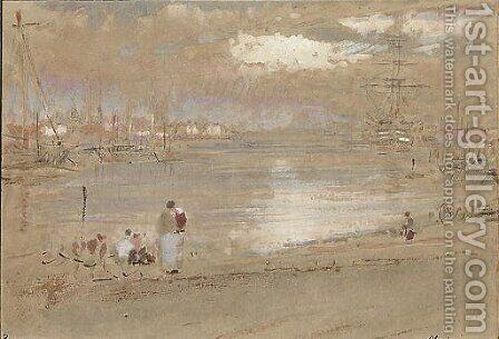 Portsmouth by Albert Goodwin - Reproduction Oil Painting