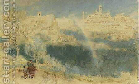 Siena by Albert Goodwin - Reproduction Oil Painting