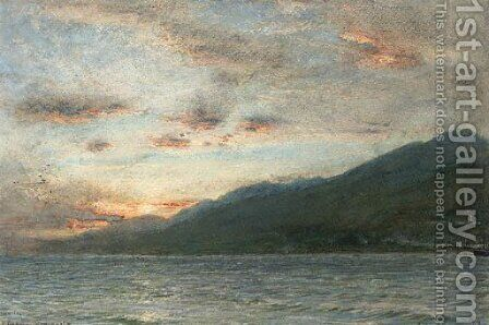 Sunrise over La Guarya, Venezuela by Albert Goodwin - Reproduction Oil Painting