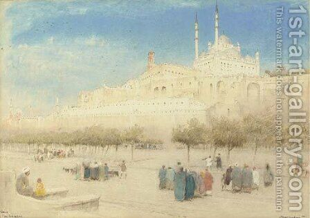 The Citadel, Cairo, Egypt by Albert Goodwin - Reproduction Oil Painting