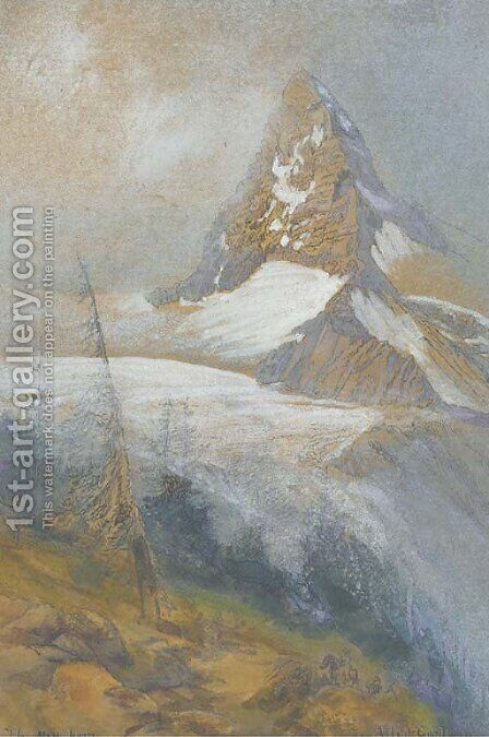 The Matterhorn, Zermatt by Albert Goodwin - Reproduction Oil Painting