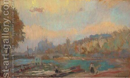 Bords de la Seine by Albert Lebourg - Reproduction Oil Painting
