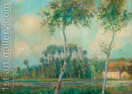 L'etang de Moulineux, le matin by Albert Lebourg - Reproduction Oil Painting