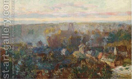 Vue de Moulineux by Albert Lebourg - Reproduction Oil Painting