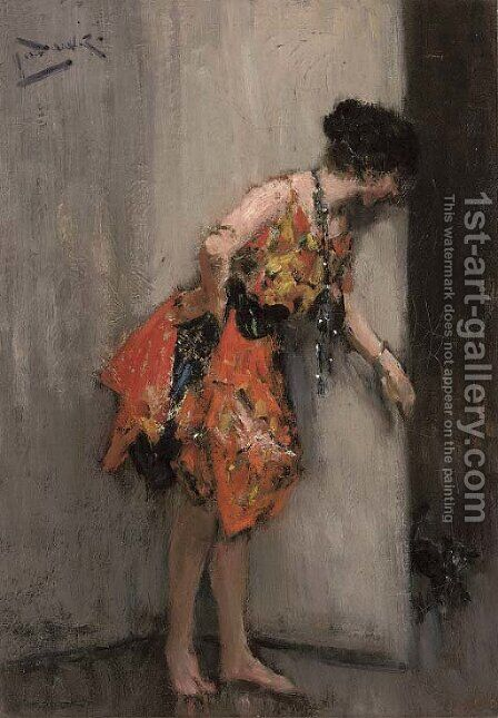 Hide and seek by Albert Ludovici - Reproduction Oil Painting