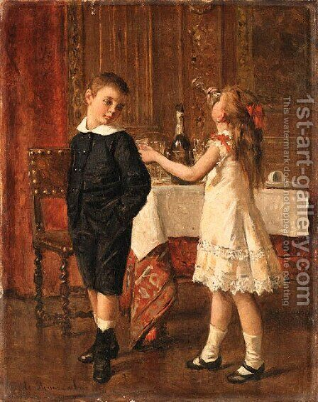 The young wine tasters by Albert Roosenboom - Reproduction Oil Painting