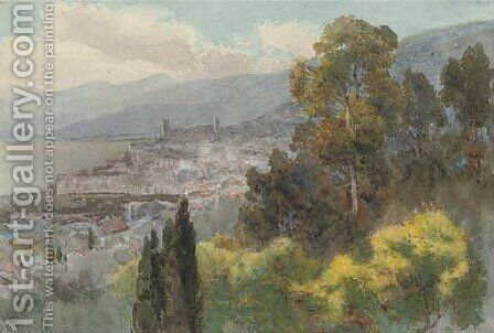 View of Cannes by Alfred Stevens - Reproduction Oil Painting