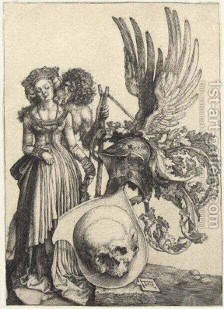 A Coat of Arms with a Skull by Albrecht Durer - Reproduction Oil Painting