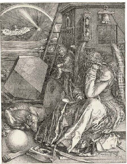 Melencholia I by Albrecht Durer - Reproduction Oil Painting