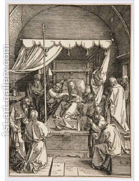 The Death of the Virgin, from The Life of the Virgin by Albrecht Durer - Reproduction Oil Painting