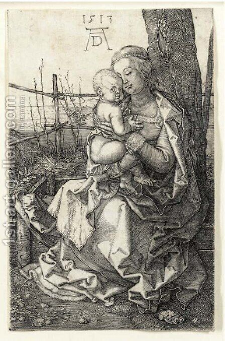 The Virgin and Child seated by a Tree by Albrecht Durer - Reproduction Oil Painting