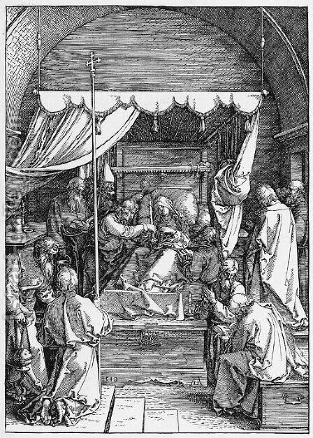 The Death of the Virgin, from The Life of the Virgin 2 by Albrecht Durer - Reproduction Oil Painting