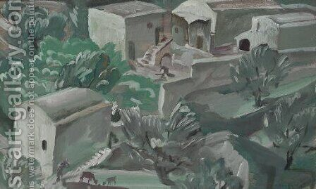 Etude pour des scenes de village a Capri 2 by Aleksandr Evgen'evich Iakovlev - Reproduction Oil Painting