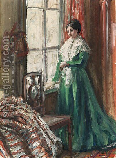 Expectation by Aleksandr Valentinovich Sredin - Reproduction Oil Painting