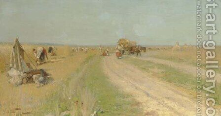 Haymaking by Aleksandr Vladimirovich Makovsky - Reproduction Oil Painting