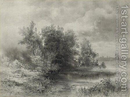A woodland stream by Alexei Kondratyevich Savrasov - Reproduction Oil Painting