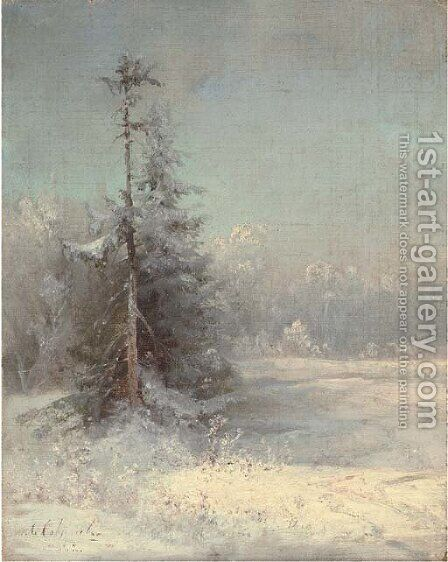 Winter landscape by Alexei Kondratyevich Savrasov - Reproduction Oil Painting