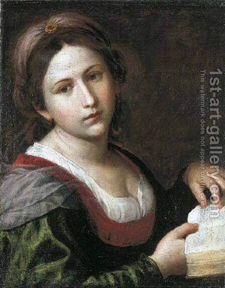 A sibyl by Alessandro Turchi (Orbetto) - Reproduction Oil Painting