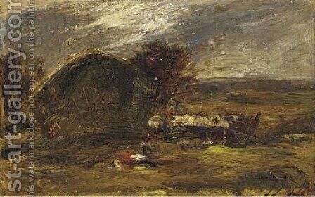 Haymaking by Alexander Jnr. Fraser - Reproduction Oil Painting
