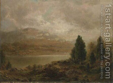 Misty Lake by Alexander Helwig Wyant - Reproduction Oil Painting