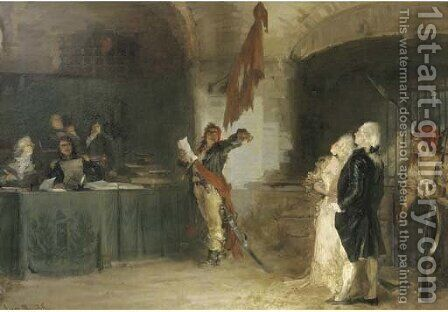 Le denonciateur during the French Revolution by Alexander Henri Robert Van Maasdijk - Reproduction Oil Painting