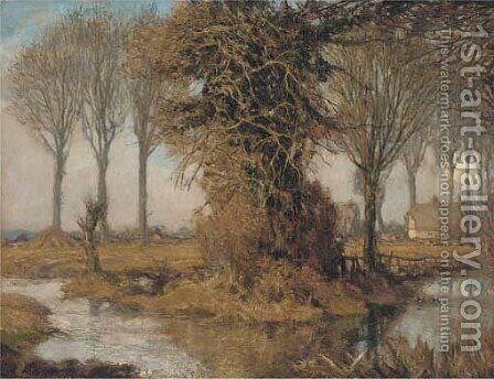 Autumn landscape by Alexander Jamieson - Reproduction Oil Painting