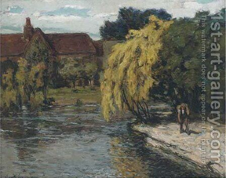 Laburnum The Old Mill, Weston Turville, Buckinghamshire by Alexander Jamieson - Reproduction Oil Painting