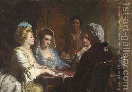 The winning hand by Alexander Johnston - Reproduction Oil Painting