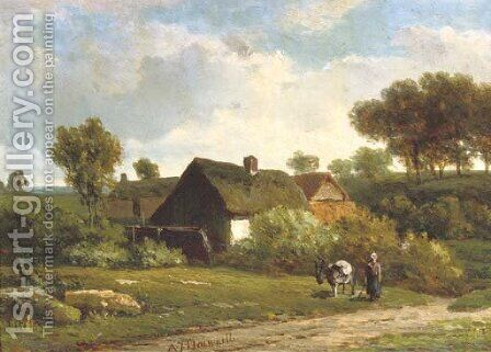 The little farm by Alexander Joseph Dawaille - Reproduction Oil Painting