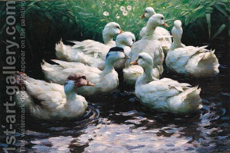 Ans Ufer (Enten) by Alexander Max Koester - Reproduction Oil Painting