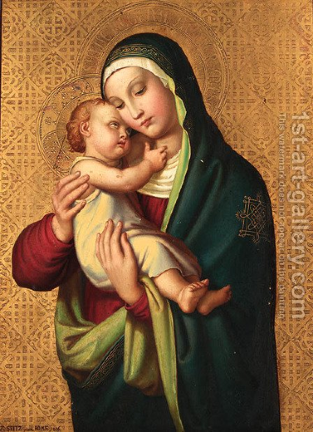 The Madonna and Child by Alexander Maximilian Seitz - Reproduction Oil Painting