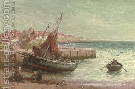 Preparing the nets by Alexander Young - Reproduction Oil Painting