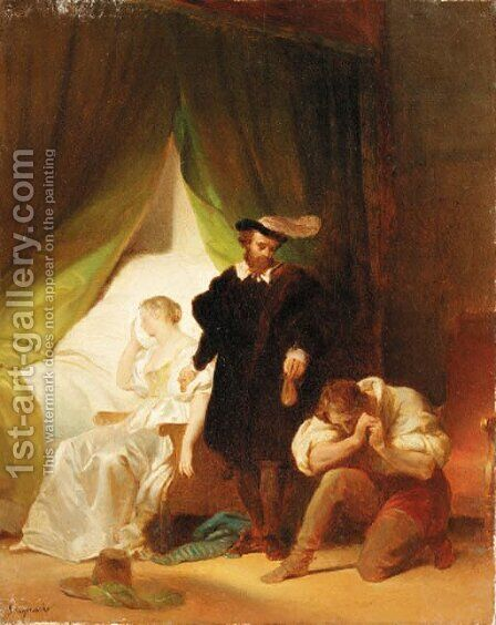 Untitled 2 by Alexandre Evariste Fragonard - Reproduction Oil Painting