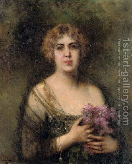 Felia Litvinne by Alexei Alexeivich Harlamoff - Reproduction Oil Painting