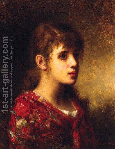 The Young Beauty by Alexei Alexeivich Harlamoff - Reproduction Oil Painting