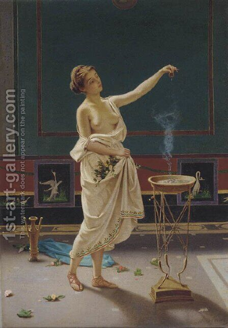 The fragrance maker by Alfonso Savini - Reproduction Oil Painting