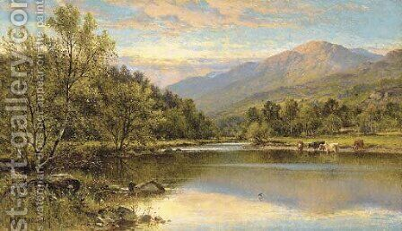 Capel Curig, North Wales by Alfred Glendening - Reproduction Oil Painting