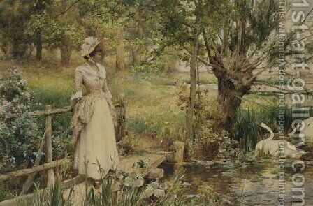 In the height of the summer by Alfred Glendening - Reproduction Oil Painting