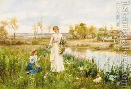 Springtime by Alfred Glendening - Reproduction Oil Painting