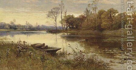 Sunset by Alfred Glendening - Reproduction Oil Painting