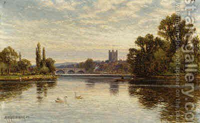 Henley on the Thames by Arthur Augustus II Glendening - Reproduction Oil Painting