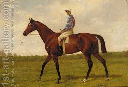 Winglass, with jockey up by Alfred Charles Havell - Reproduction Oil Painting