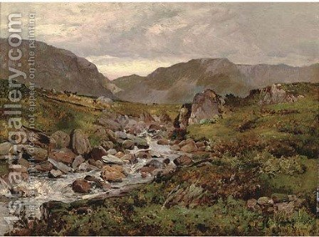 Capel Curig, North Wales by Alfred de Breanski - Reproduction Oil Painting
