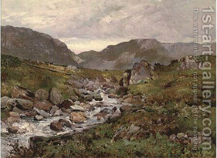 Capel Curig, North Wales 2 by Alfred de Breanski - Reproduction Oil Painting