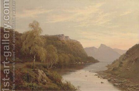 Borrowdale by Alfred de Breanski - Reproduction Oil Painting