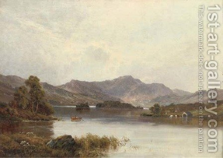 Rydal Water, Cumbria by Alfred de Breanski - Reproduction Oil Painting