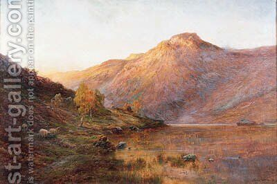 Ben Lomond 2 by Alfred de Breanski - Reproduction Oil Painting