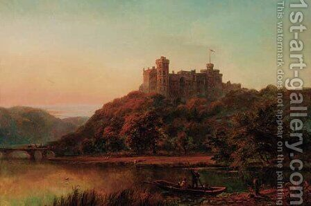 Windsor Castle by Alfred de Breanski - Reproduction Oil Painting