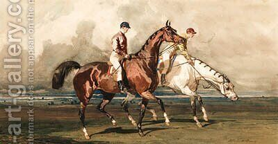 The Morning Gallop by Alfred Dedreux - Reproduction Oil Painting