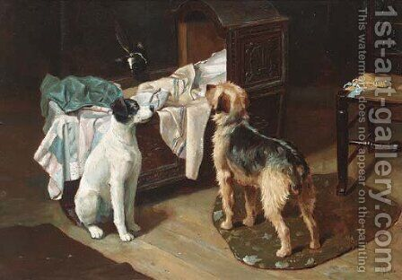 On the alert by Alfred Duke - Reproduction Oil Painting